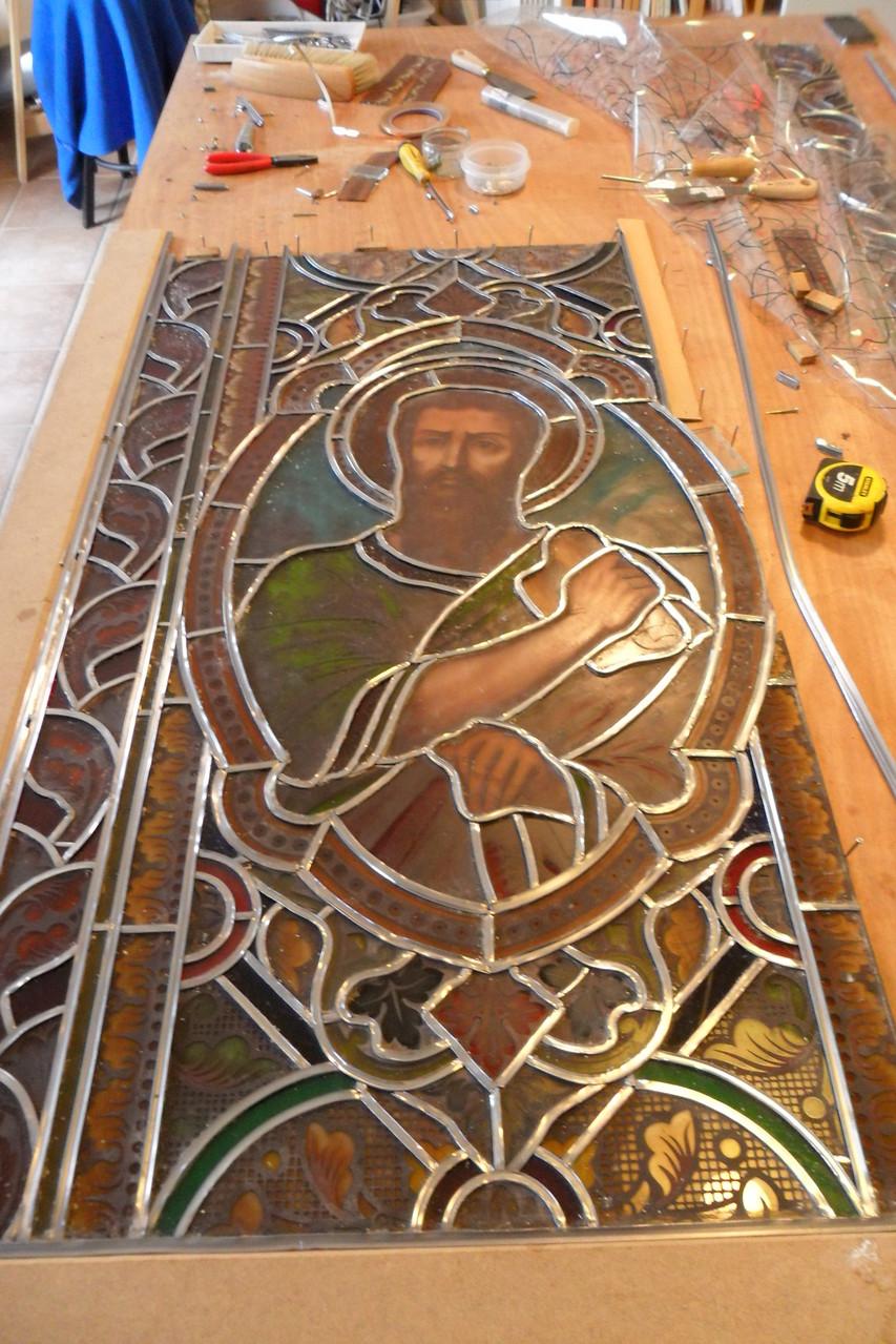Restauration verrière de St Marc- St Amans de Mounis 34