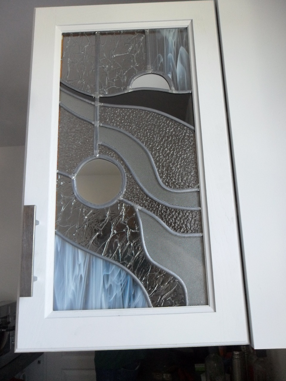 porte placard moderne-art du vitrail- Soubès 34