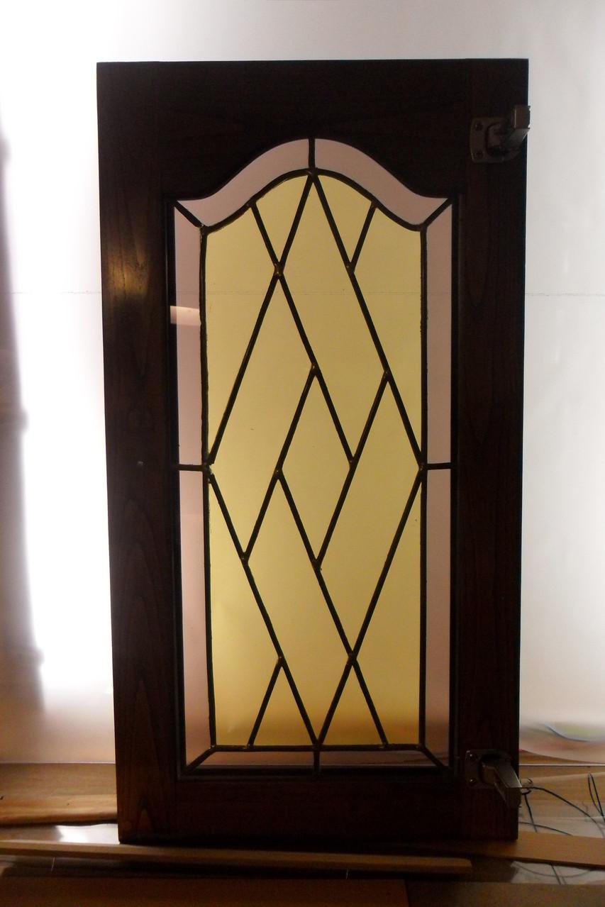 Restauration portes intérieures- Vic la Gardiole - vitrail languedoc