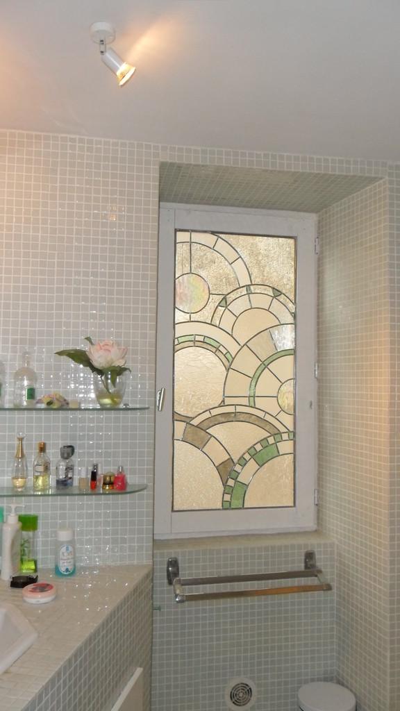 vitrail Salle de bains - Soubès 34