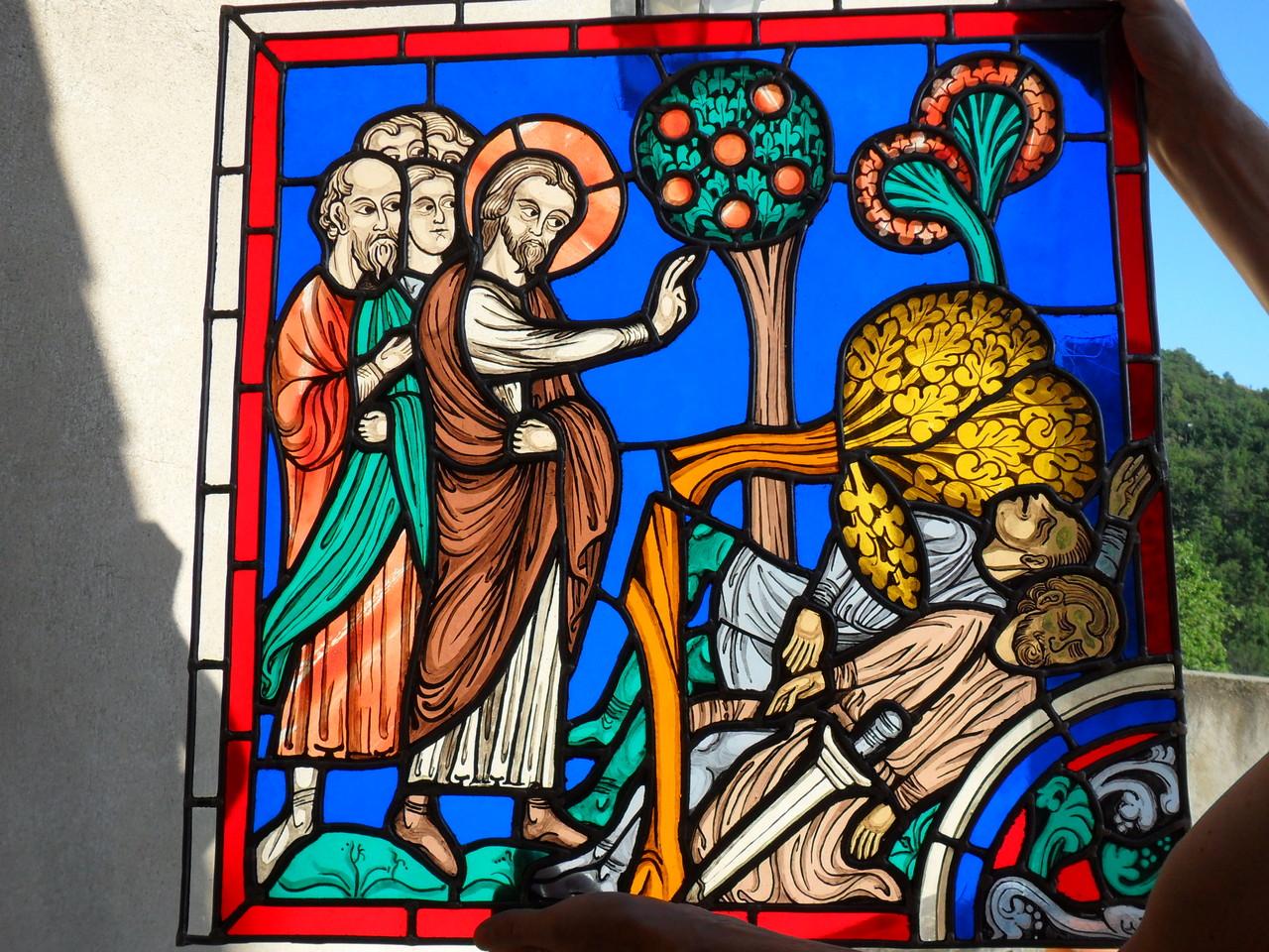 St Martin XIIIème-reproduction d'un vitrail de la cathédrale de Chartres