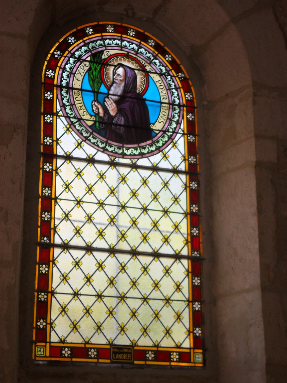 Restauration du vitrail de St Expédit à St Clément de rivière 34