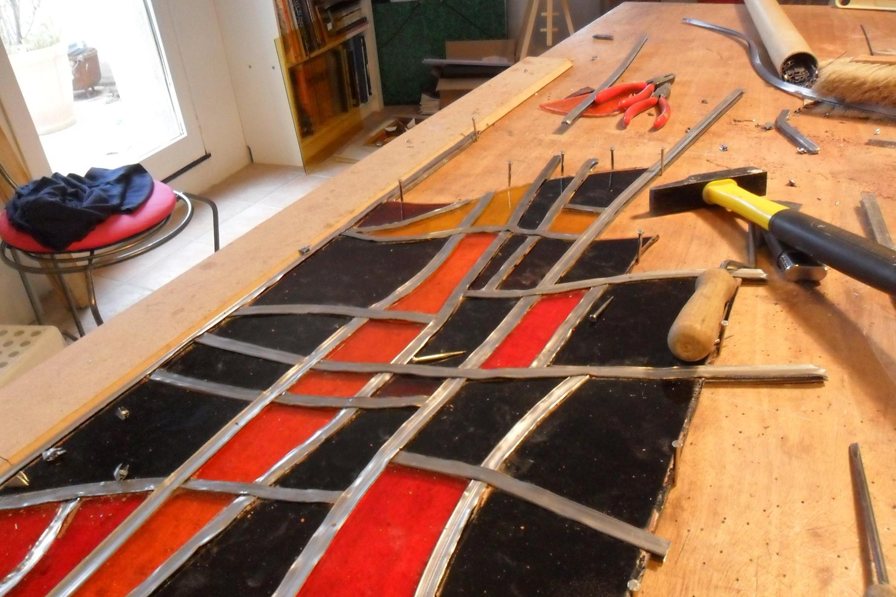 restauration vitrail moderne- art du vitrail languedoc
