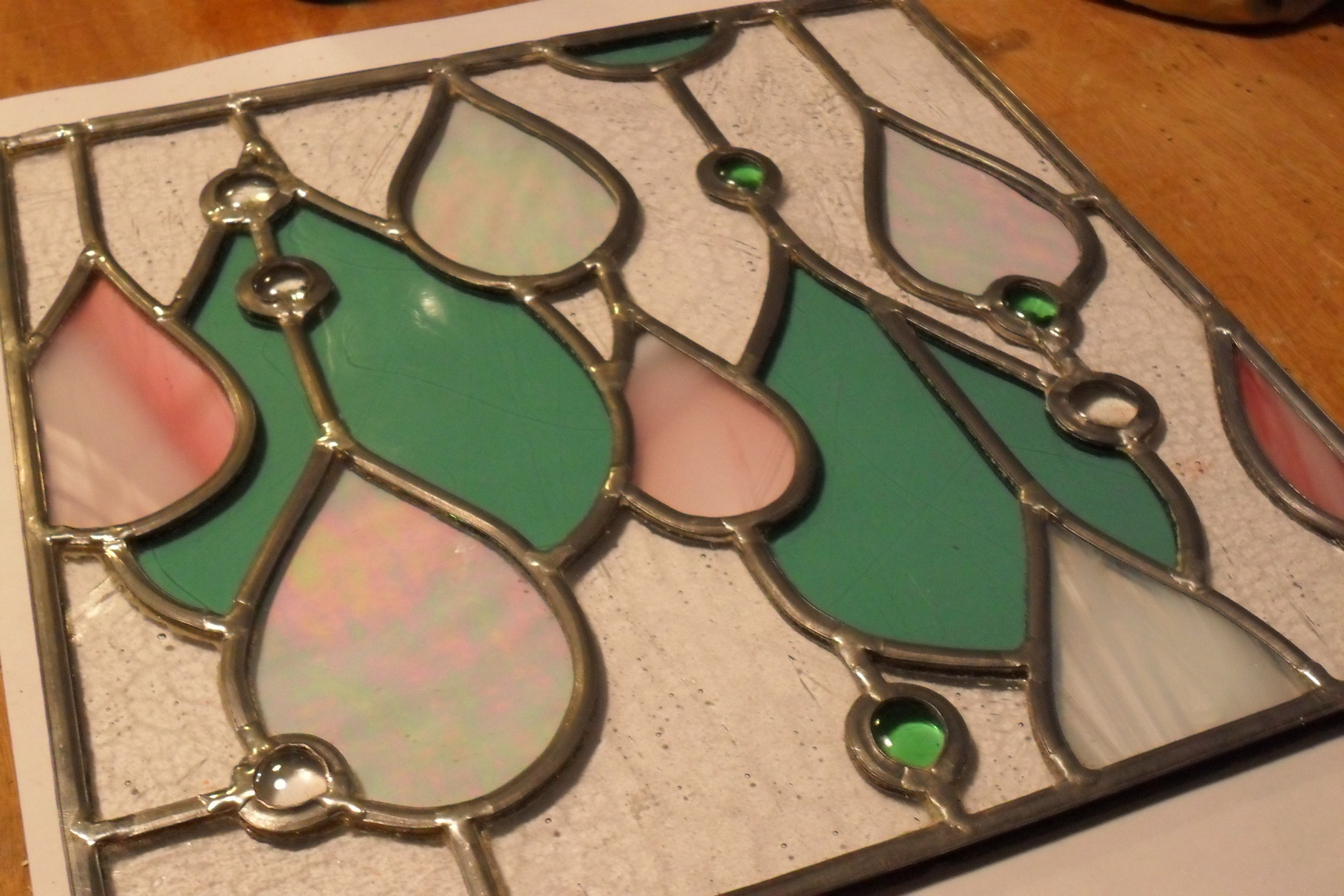 vitrail Gouttes d'eau- vitrail au plomb- Art du vitrail -Clapiers 34