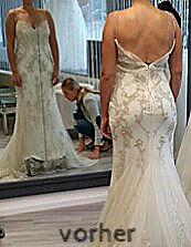 schlecht sitzendes Brautkleid