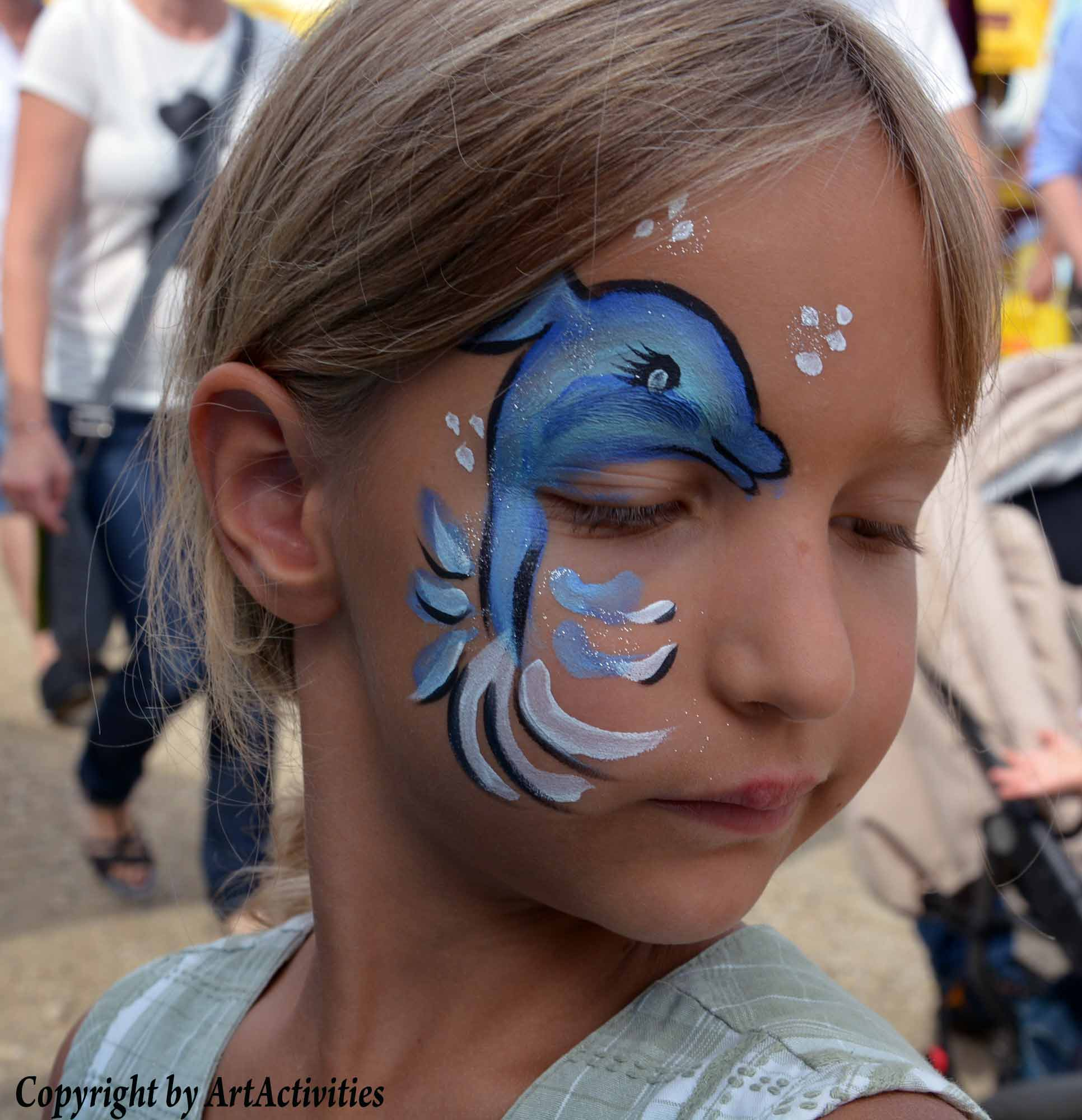 Kinderschminken/Facepainting Delphin