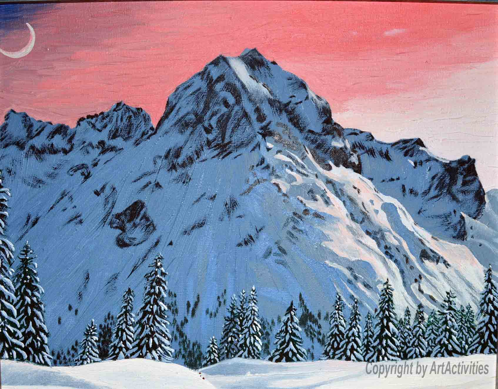 Omeshorn Lech, 34x40cm, Oil on canvas