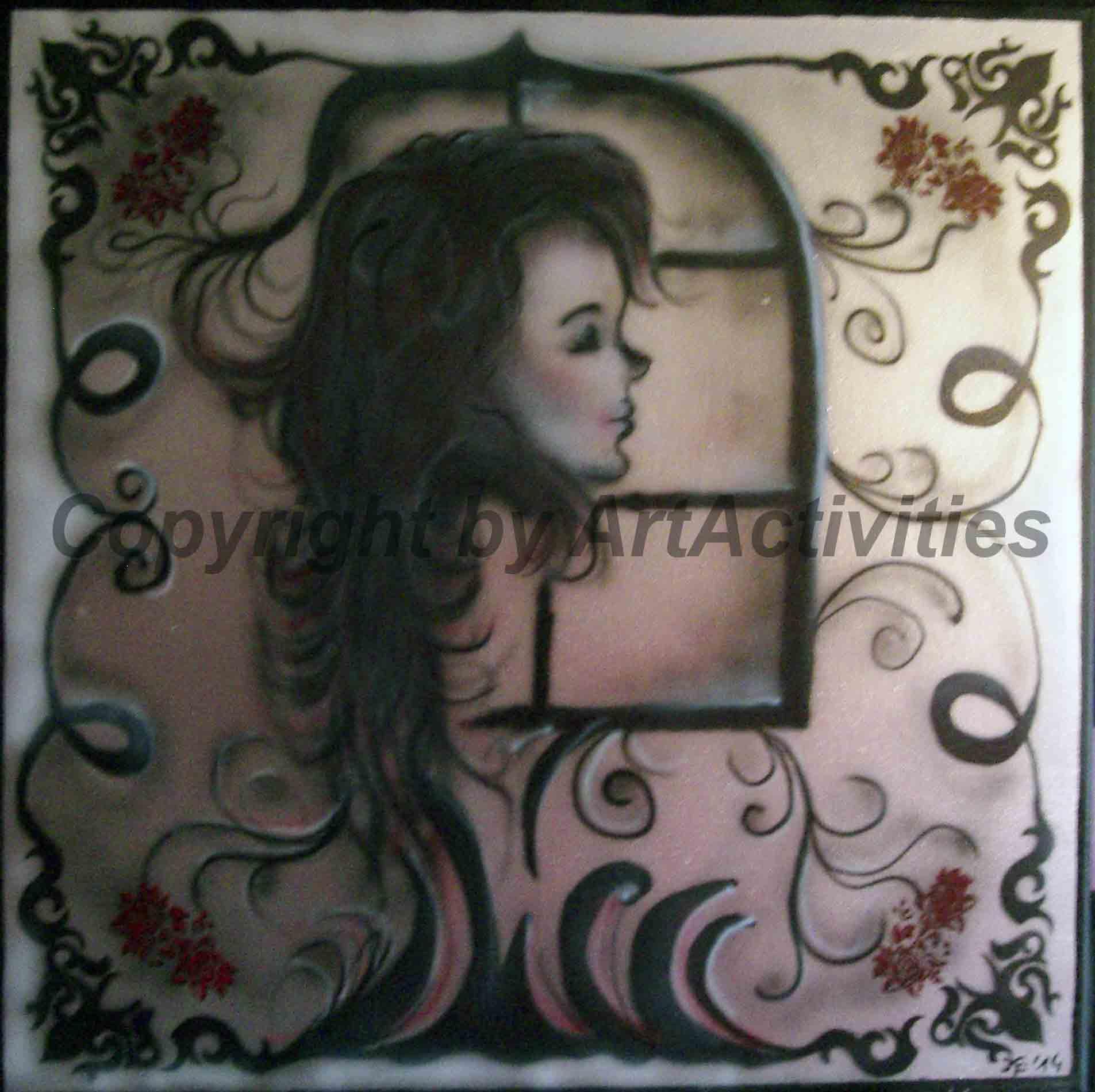 woman2, 70x70, Acryl on canvas