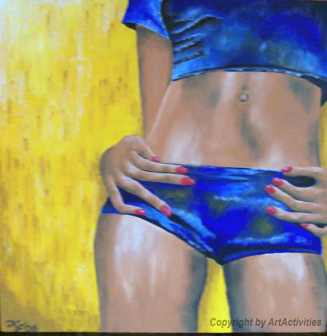 woman1,70x70cm, Acryl on canvas