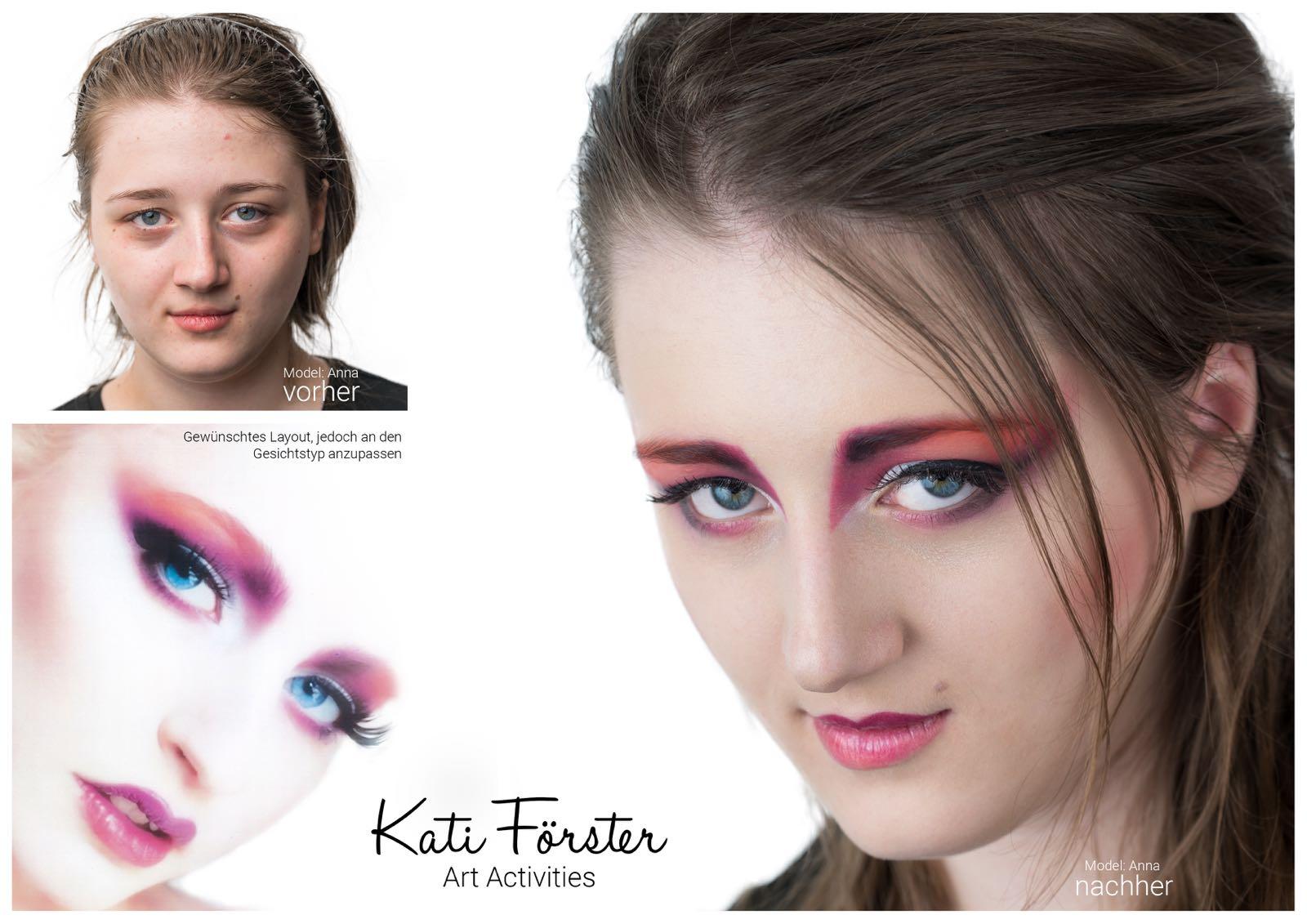 Visagistik, Layout schminken, Model Anna Starzacher, Foto Heimo Huspek Shooting Factory