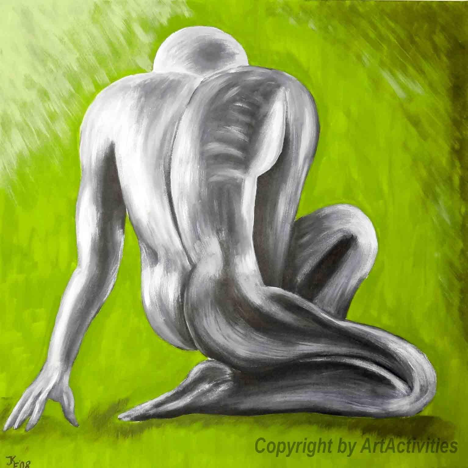 Akt men, 70x70cm,Acryl on canvas