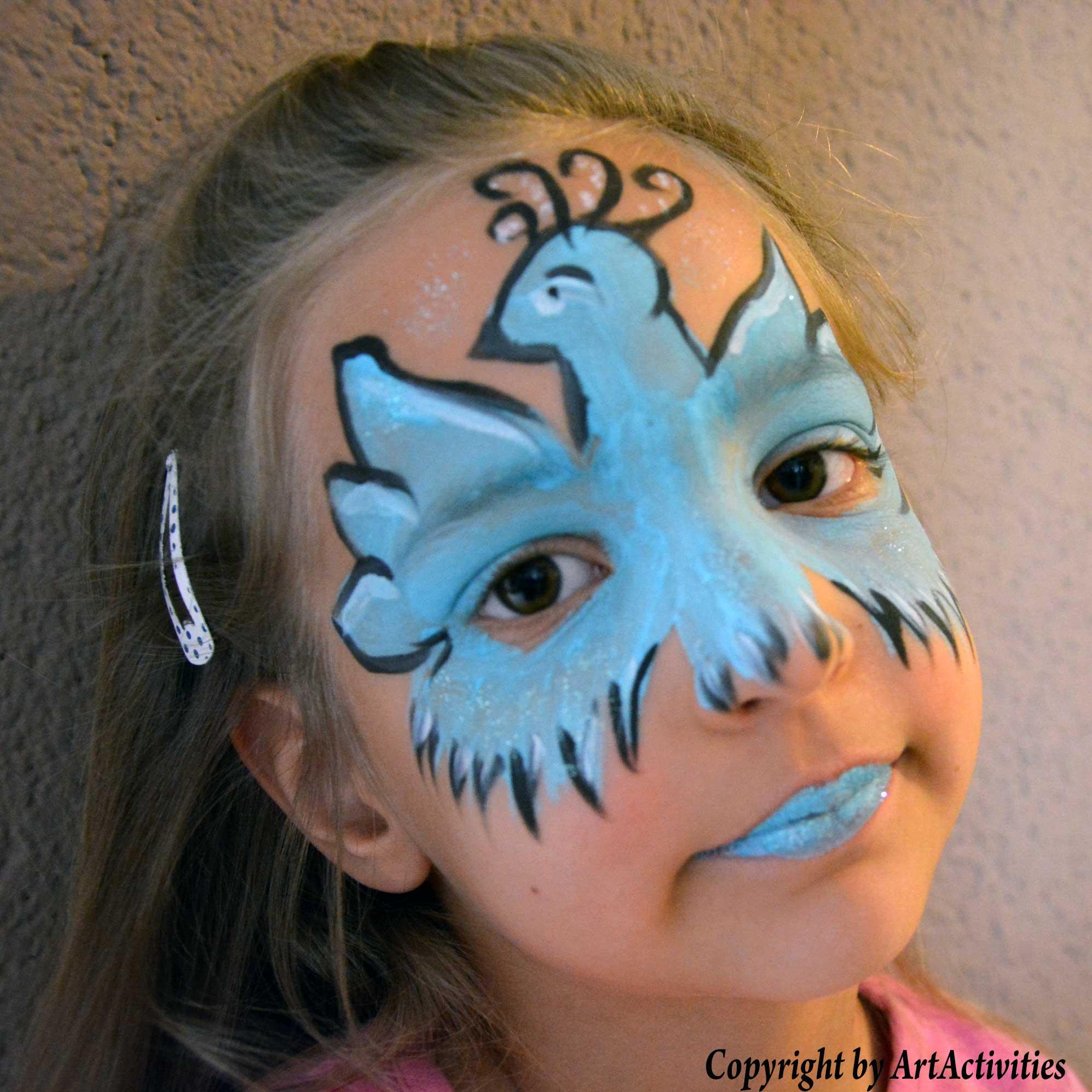 Kinderschminken/Facepainting Taube