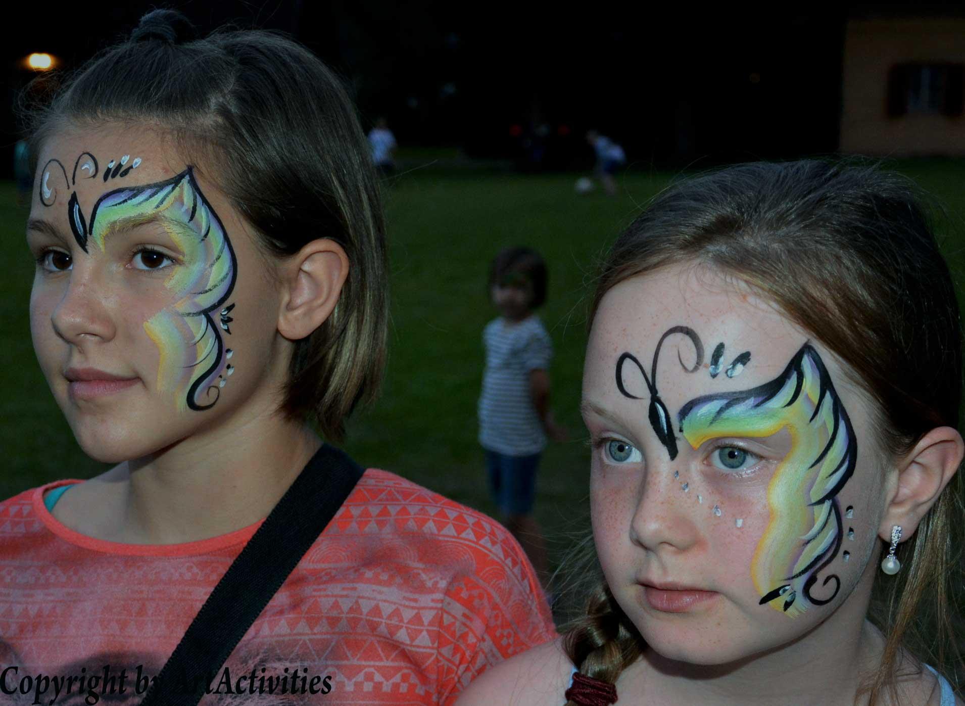 Kinderschminken/Facepainting Schmetterling