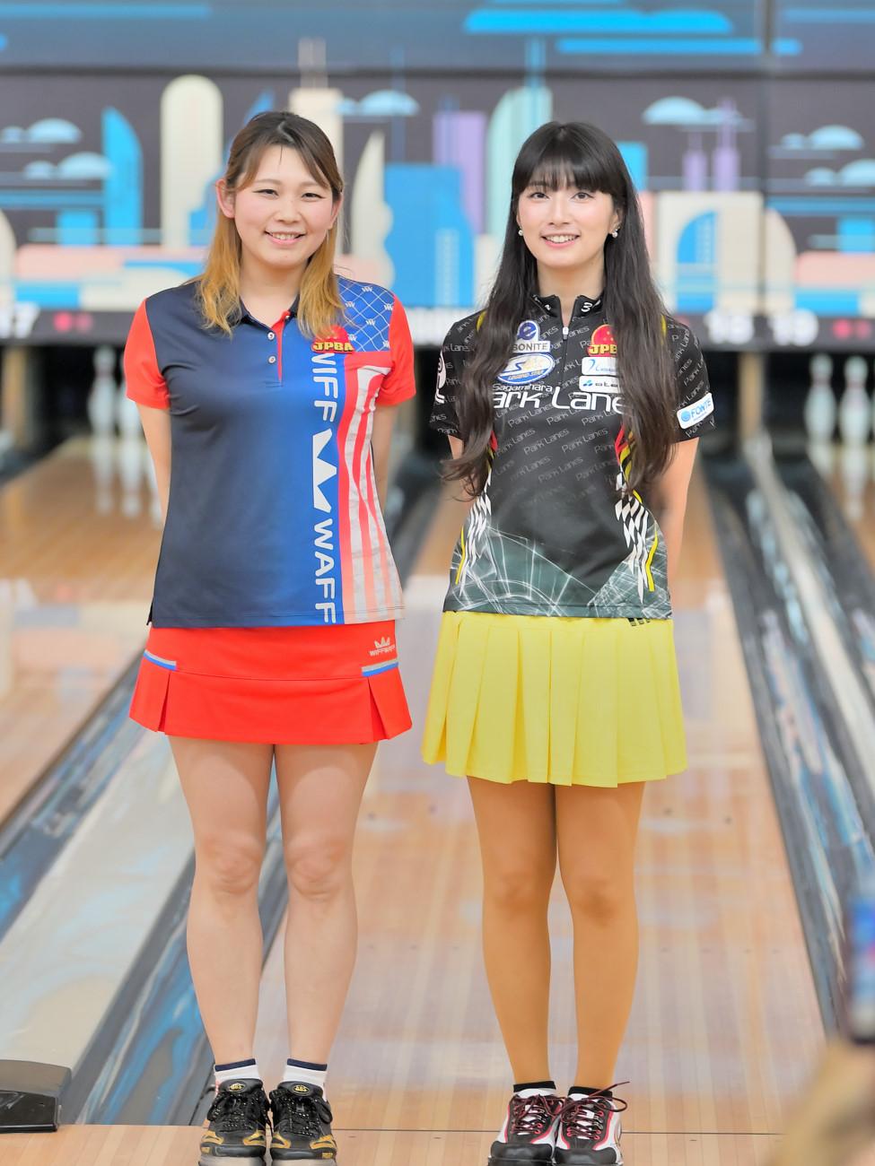名和秋プロ(写真右)星野恵梨プロ(写真左)