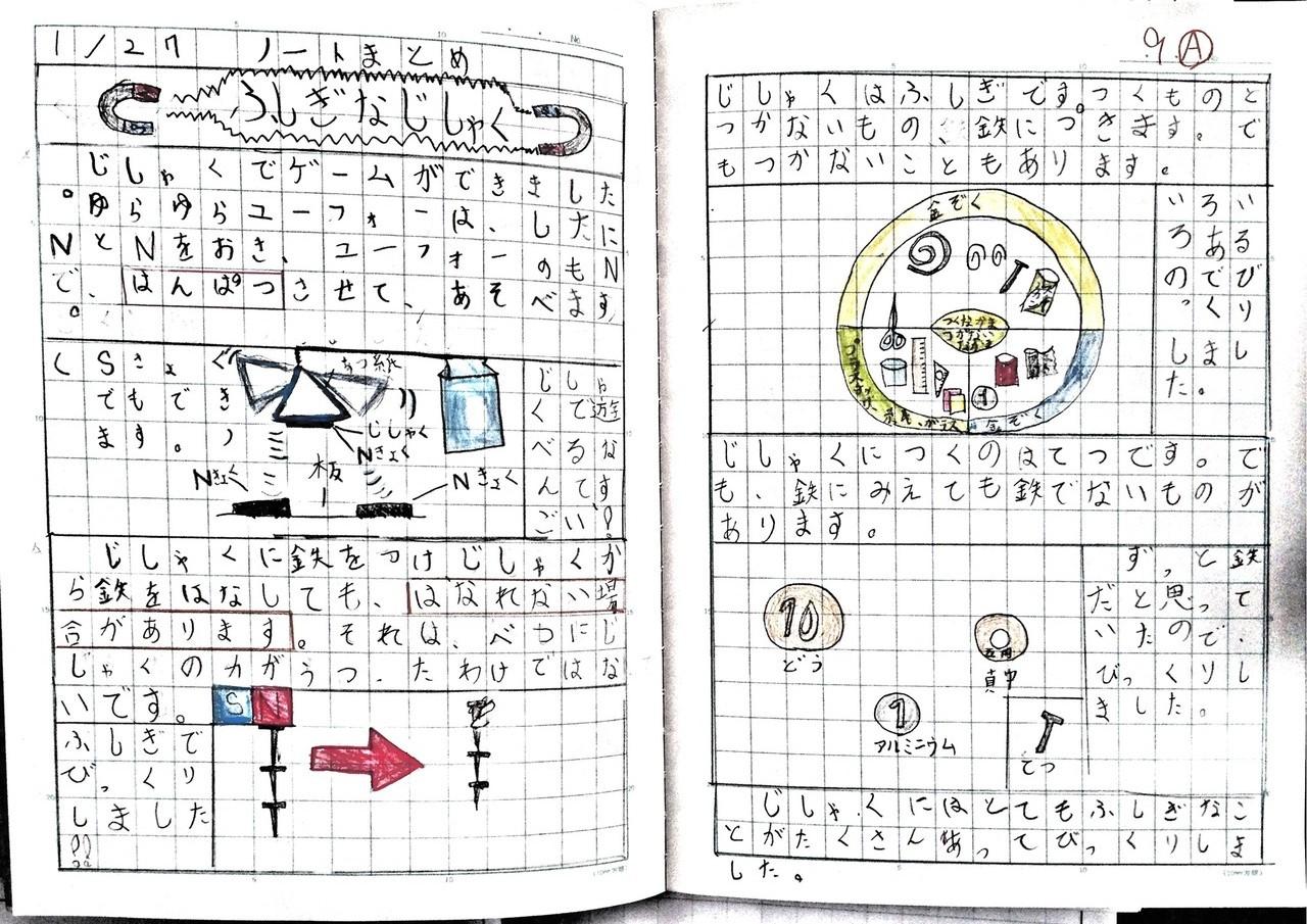 小3 理科 まとめノート2