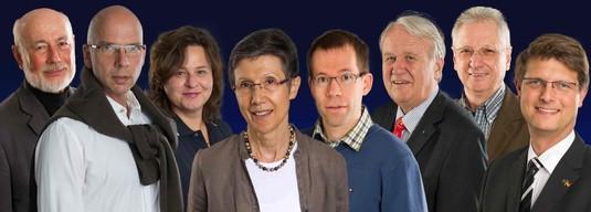 Die Gründungsmitglieder des Vereins (von links nach rechts): Detlef Goos, Dr. Wolf-Peter Groß, Stefanie Bolle, Ursel Neuhoff, Kai Schröder, Dr. Ernst-August Ehlers, Klaus Parusel, Volker Gawron
