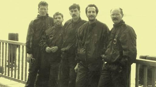 Didier Joncquet, Clément Susunaga, Denis Joncquet, Jacques Lebrun et Daniel Aubourg