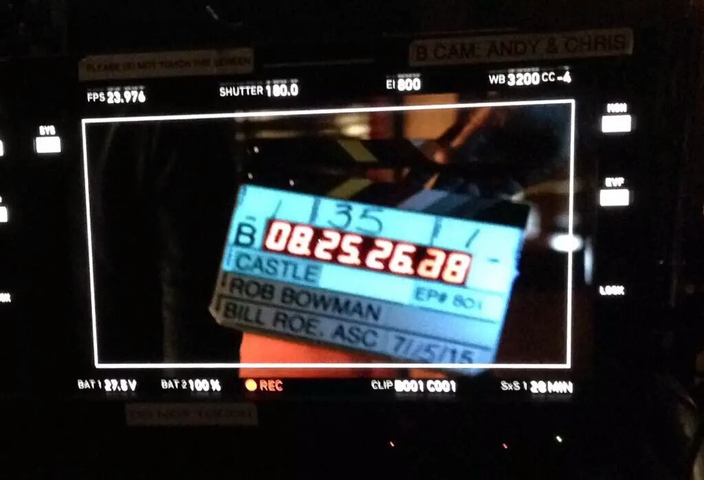"""First shot of #Castle season 8! And so it begins..."" (c)@OldManWinter14"