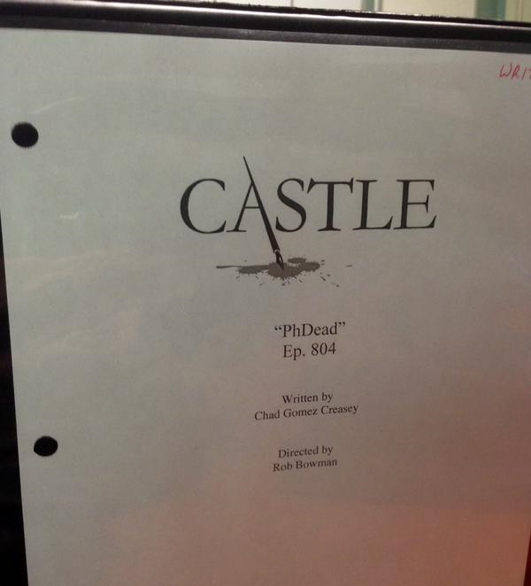 """""""Production binder ready to go! Day 1 of #Castle 804 is about to roll."""" (c)@chadgcreasey"""