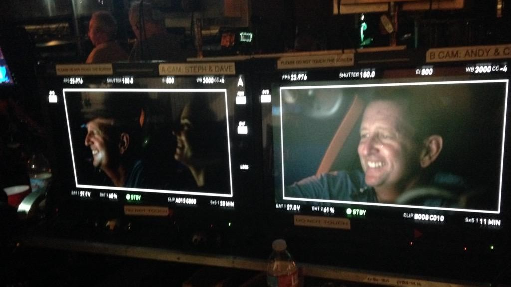 """""""A few laughs on the set 2day #Castle 802.....caught on the monitors! You never know who's watching 😁"""" (c)@jayway728"""