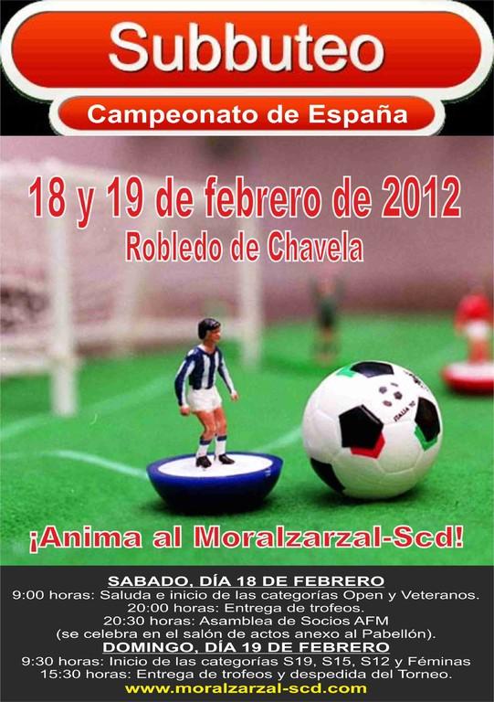 Cartel conmemorativo del Campeonato de España editado por el ayuntamiento de Moralzarzal.