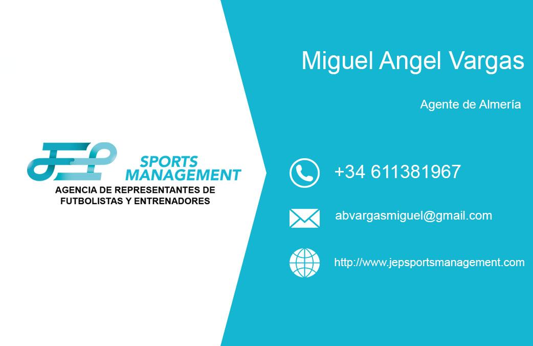Miguel Ángel Vargas Aguilar se incorpora como agente asociado de JEP Sports