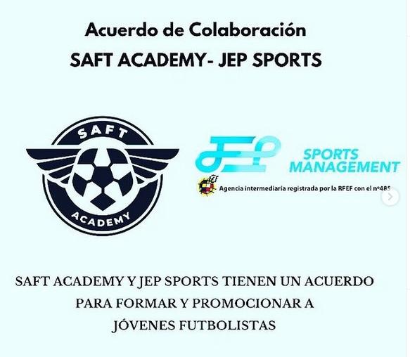 SAFT Academy y JEP Sports han llegado a un acuerdo de colaboración para formar, asesorar y promocionar a jóvenes futbolistas.