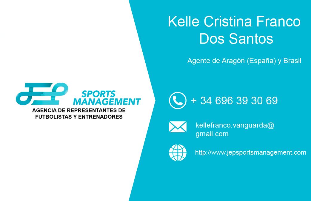 Kelle Cristina Franco Dos Santos ya forma parte de nuestro equipo de agentes asociados de JEP Sports