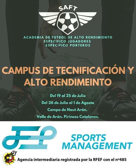 Apúntate al Campus de tecnificación y alto rendimiento SAFT & JEP Sports