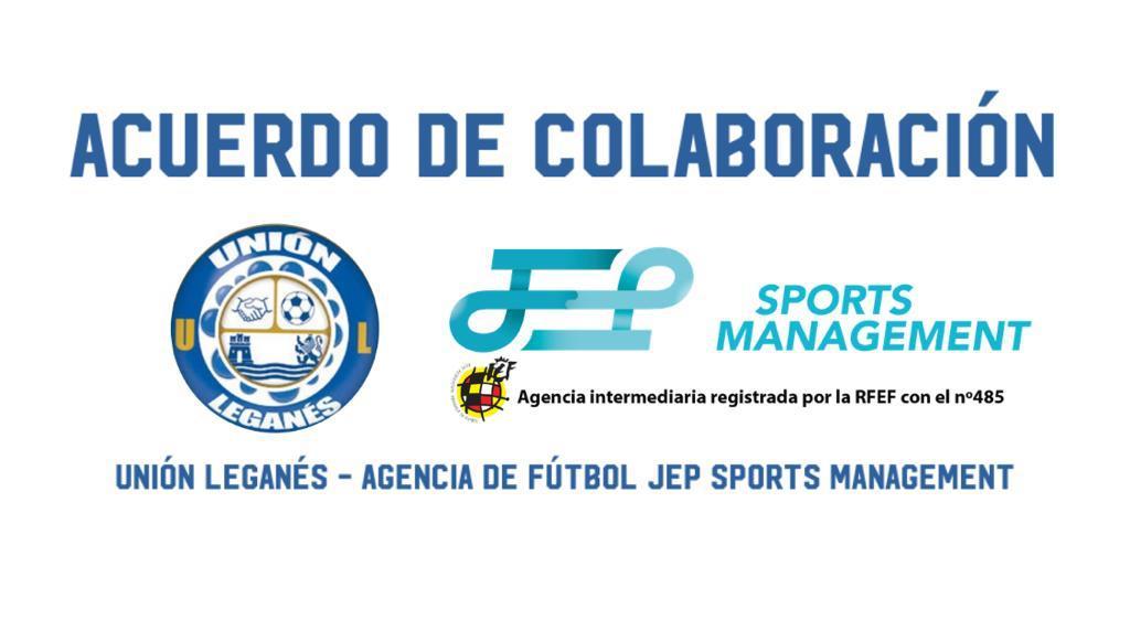 Acuerdo entre el club Unión Leganés y JEP Sports Management