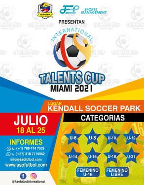 Talents CUP Miami 2021 de JEP Sports & Asofutbol