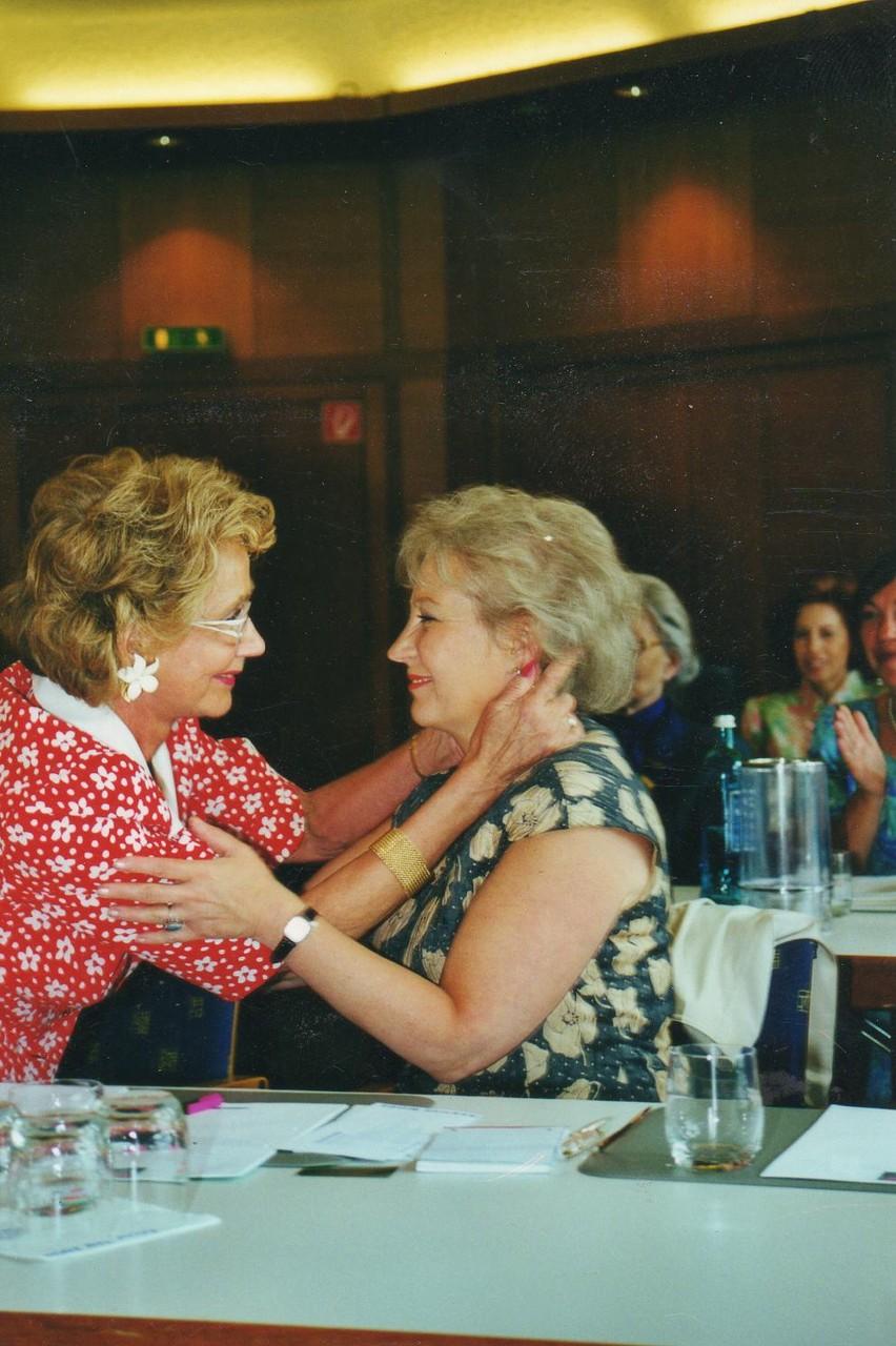 Zwei die sich gut verstehen: Herta Strecker-Harder und Helga Freier