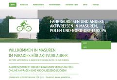 Fahrradreisen in Masuren und anderen Teilen von Polen sowie Europa