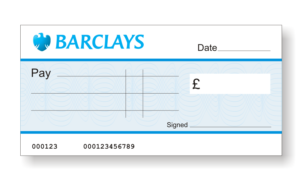 How do you fill in a barclays cheque?