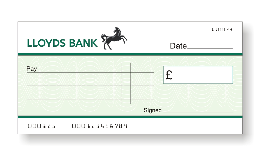 how to write a cheque uk lloyds