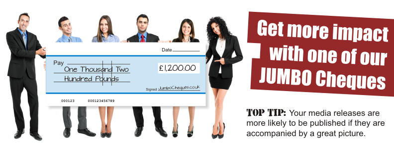 jumbo cheques - the home of big presentation cheques, Powerpoint templates