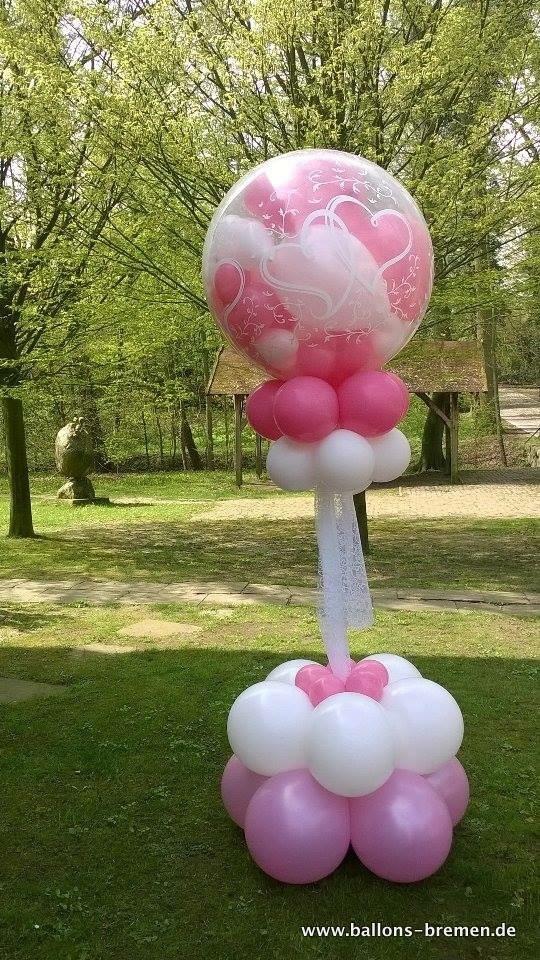 Ballonglück in rosa
