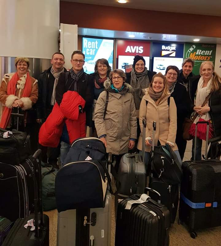 Ankunft auf dem Flughafen Sheremetjevo