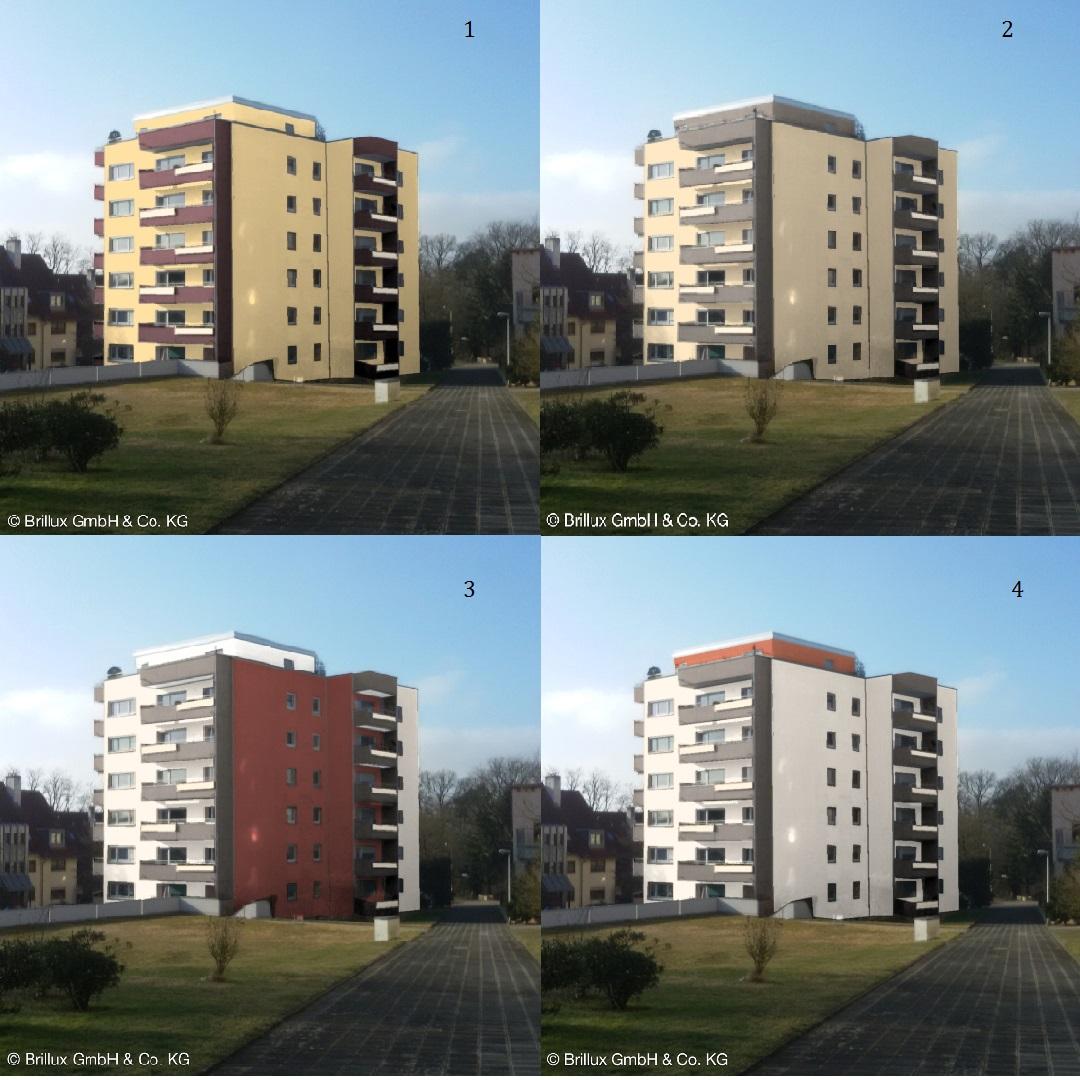 Farbmuster mit dem Farbdesigner/Fassade