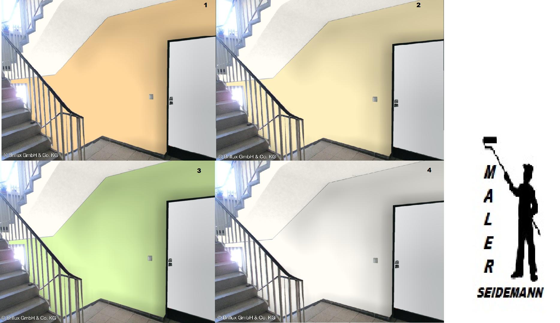 Farbmuster mit dem Farbdesigner/Treppenhaus