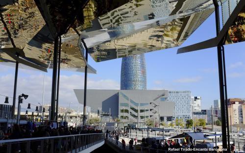 Els Encants (Barcelona) en su nueva ubicación.