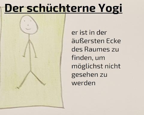 schüchterner Yogi