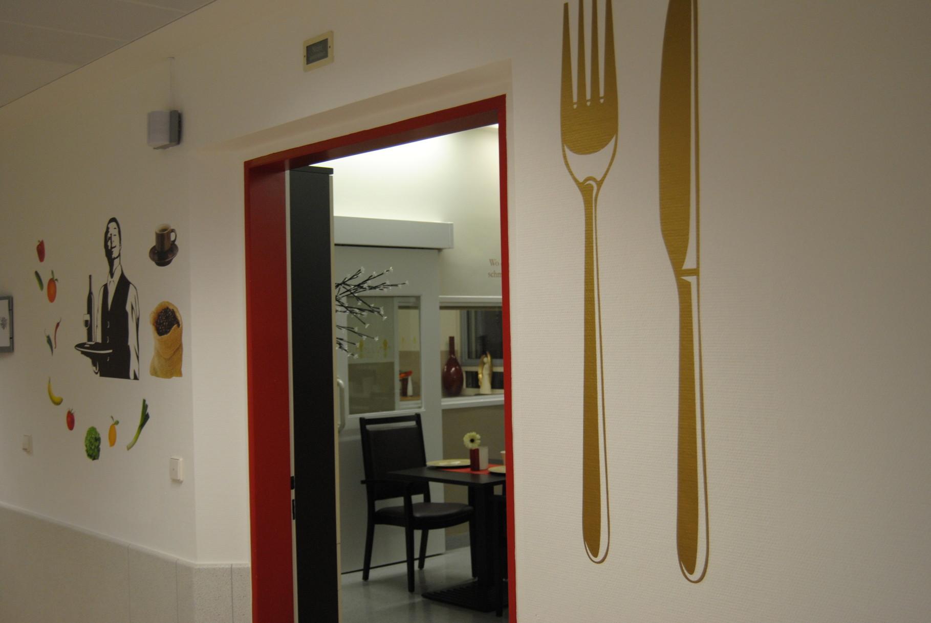 Eingang zum Aktivierungs und Speisesaal