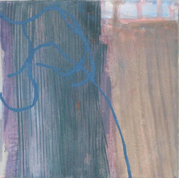 blau 2009 20 x 20 cm Mischtechnik / Leinwand / Holz
