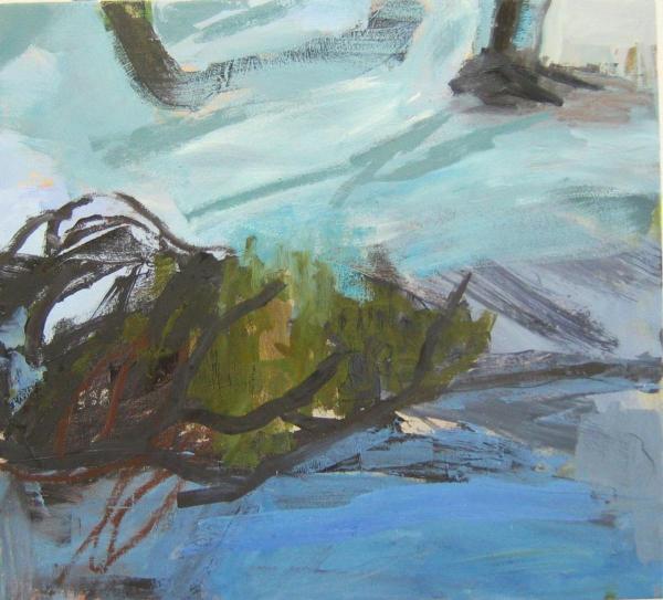 Landschaft 2009 55 x 50 cm Öl / Leinwand