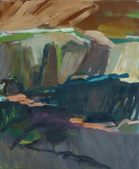 le balze 4.9.2012 2012 60 x 50 cm Öl / Leinwand