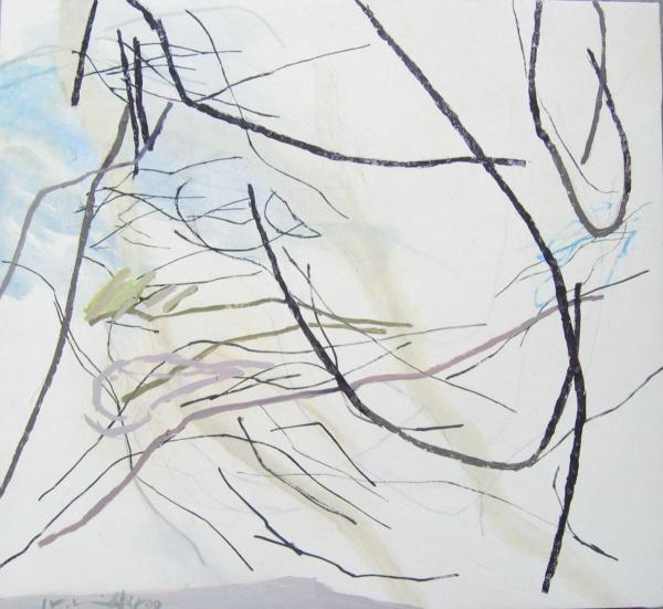 mentre 2009 55 x 60 cm Mischtechnik / Leinwand