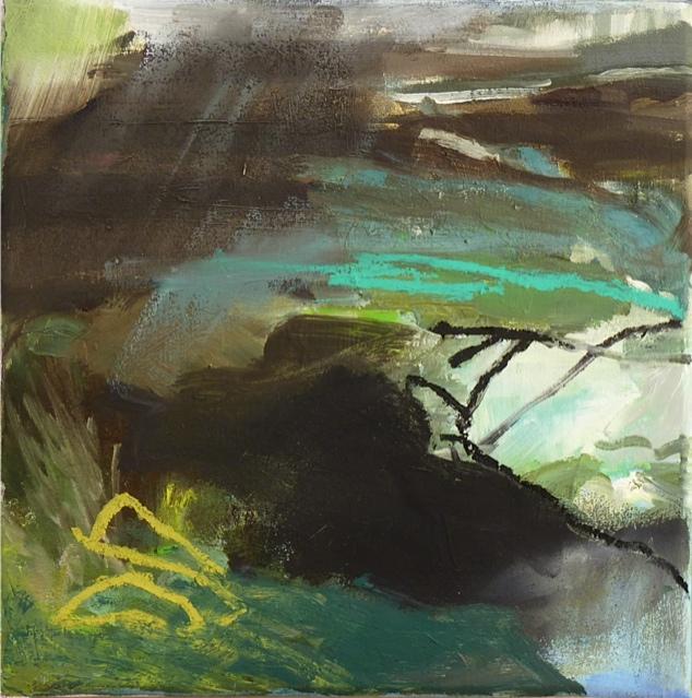 Chalais 2012 25 x 25 cm Öl / Leinwand