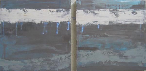 val-d´arno 2-teilig 2009 20 x 20 cm Öl / Leinwand