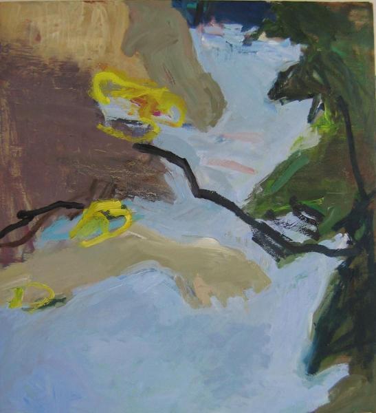 Landschaft-1 2009 55 x 50 cm Öl / Leinwand